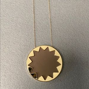 House of Harlow starburst necklace in gold & beige